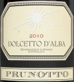 Prunotto Dolcetto d'Alba этикетка